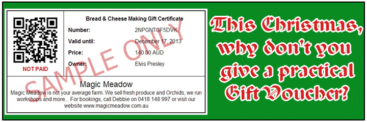 Give a very practical gift this Christmas. Gift certificates are valid for 12 months.